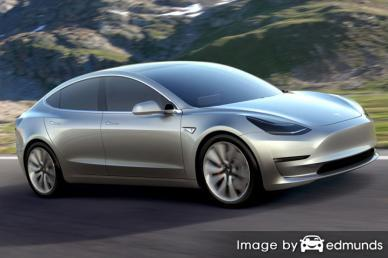 Insurance quote for Tesla Model 3 in Buffalo